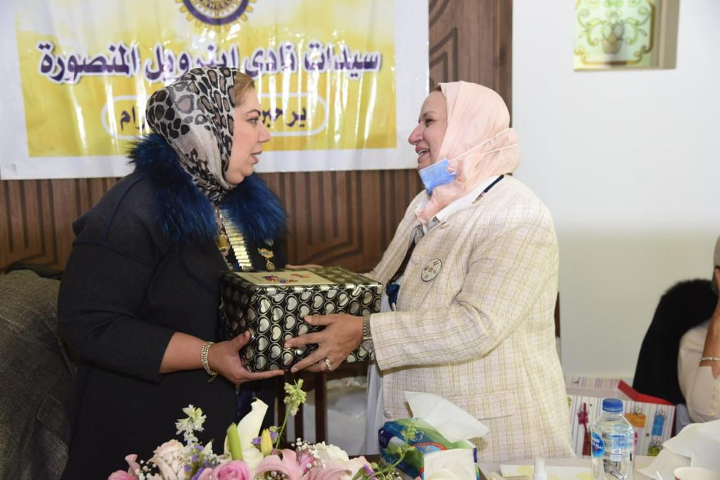 8-A symbolic gift from IWC of Tanta to District 95 Chairman