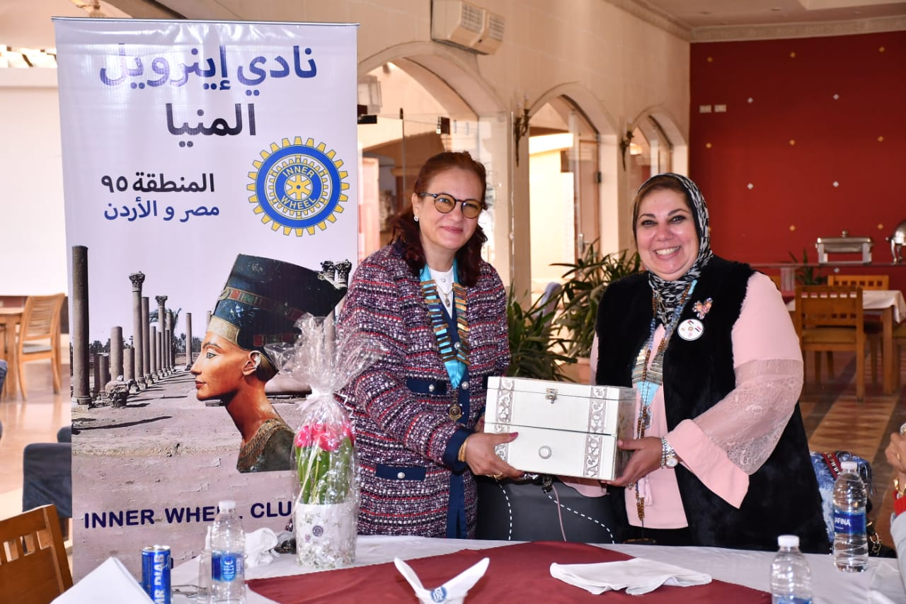 12- A Symbolic gift from President of IWC of AL Minya to District 95 Chairman
