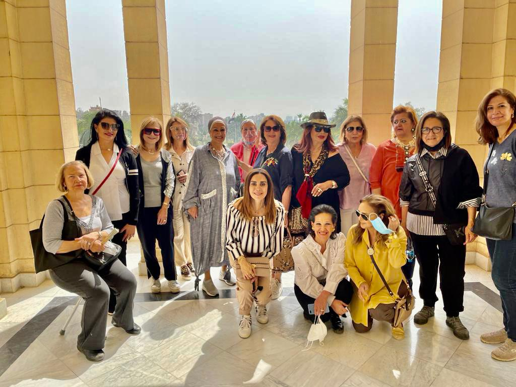 3- Mrs. Samia Abou El Fetouh President of IWC of Zamalek & the members of the Club at the Palace Garden