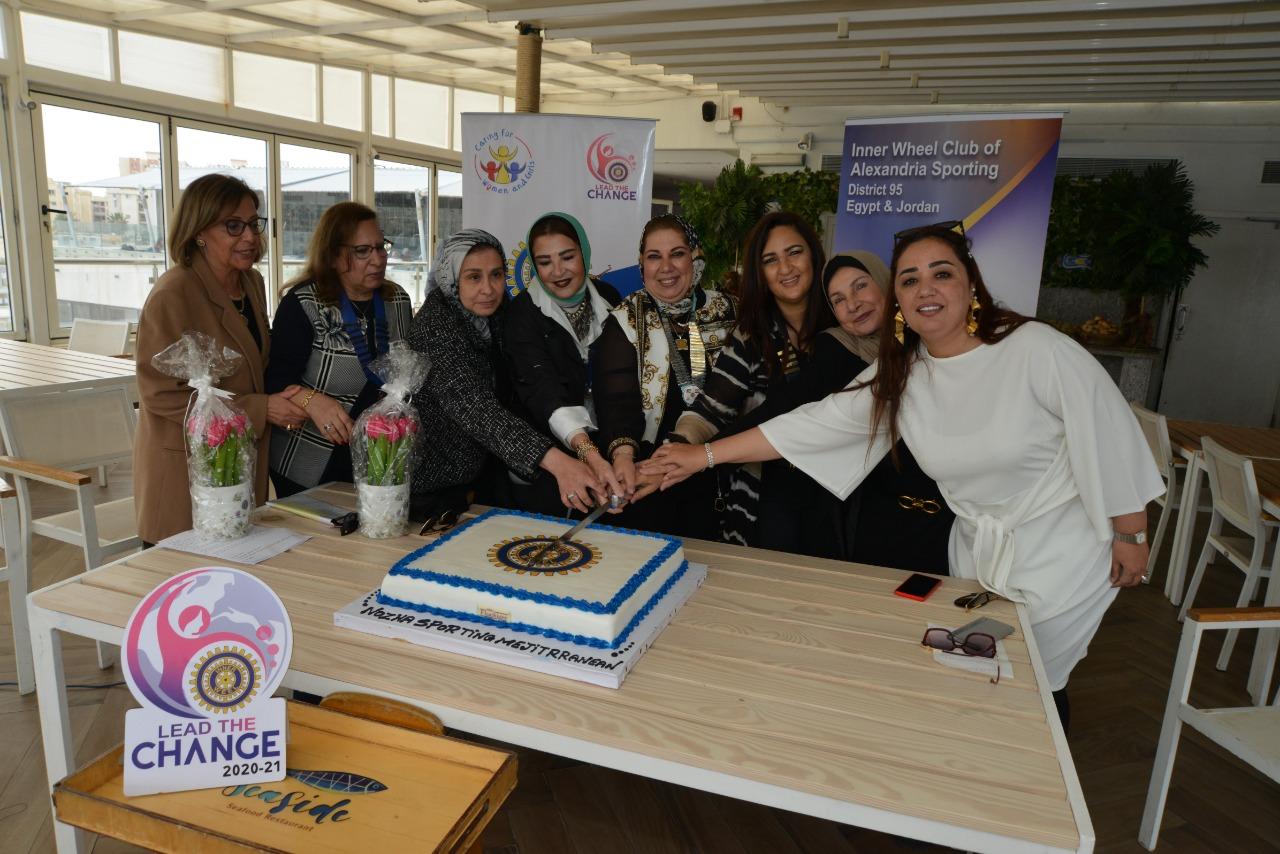 1-D95 Chairman with Presidents of IWC of Alexandria El Nozha, Sporting & Mediterranean