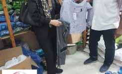 IWC of Alexandria distributed feast's new cloths & cookies to the children in the Child Care Agency & Intellectual Education Institute for girls.