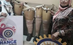 IWC of Tanta donating Prosthetic limbs & Wheelchairs to the Foundation of Handicapped in Tanta