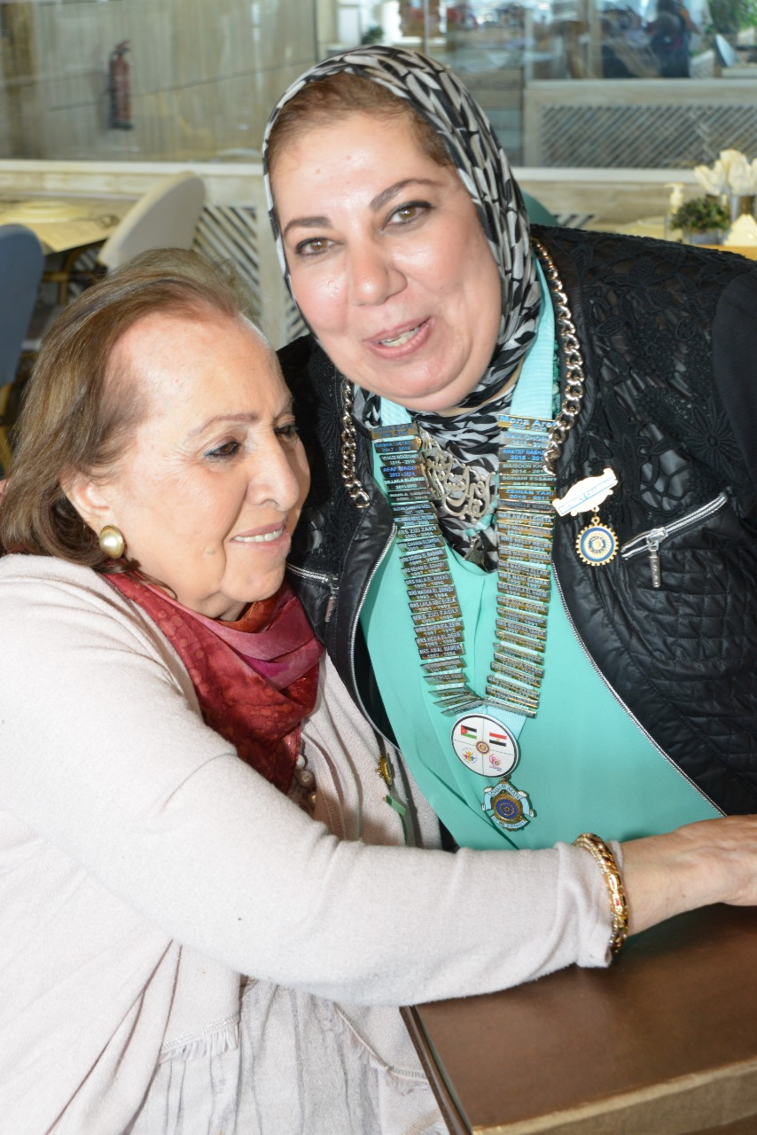 13-Mrs. Hoda El Deeb one of the founder of IWC of Alexandria with D95Chairman