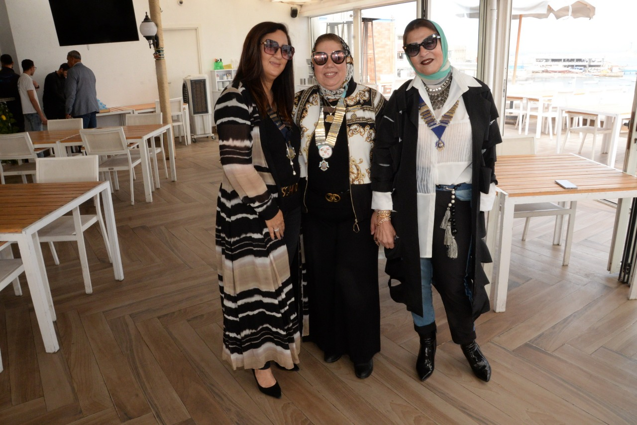 16-D95 Chairman with Presidents of IWC of Alexandria El Nozha & Sporting