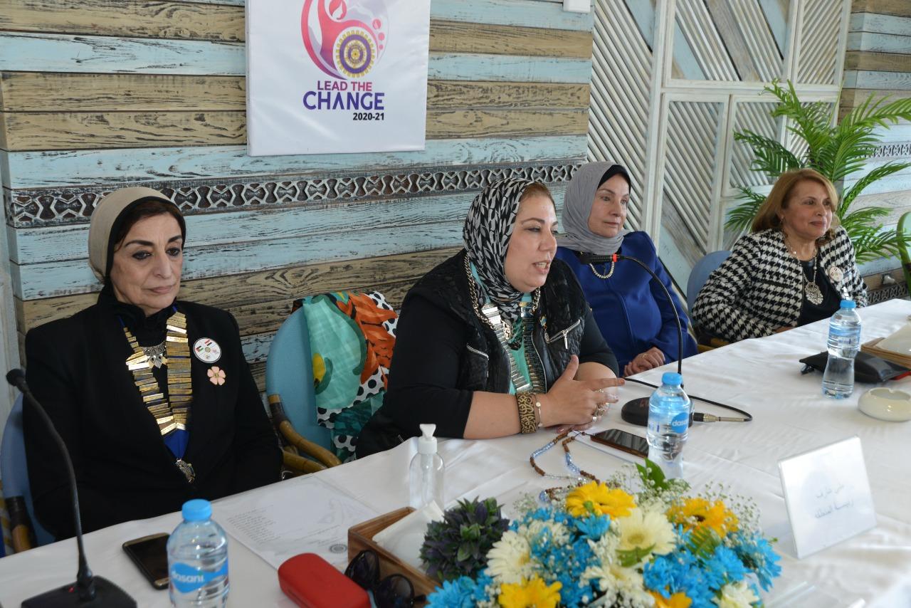 2-Mrs. Mona Aref D95 Egypt & Jordan Chairman delivered her speech