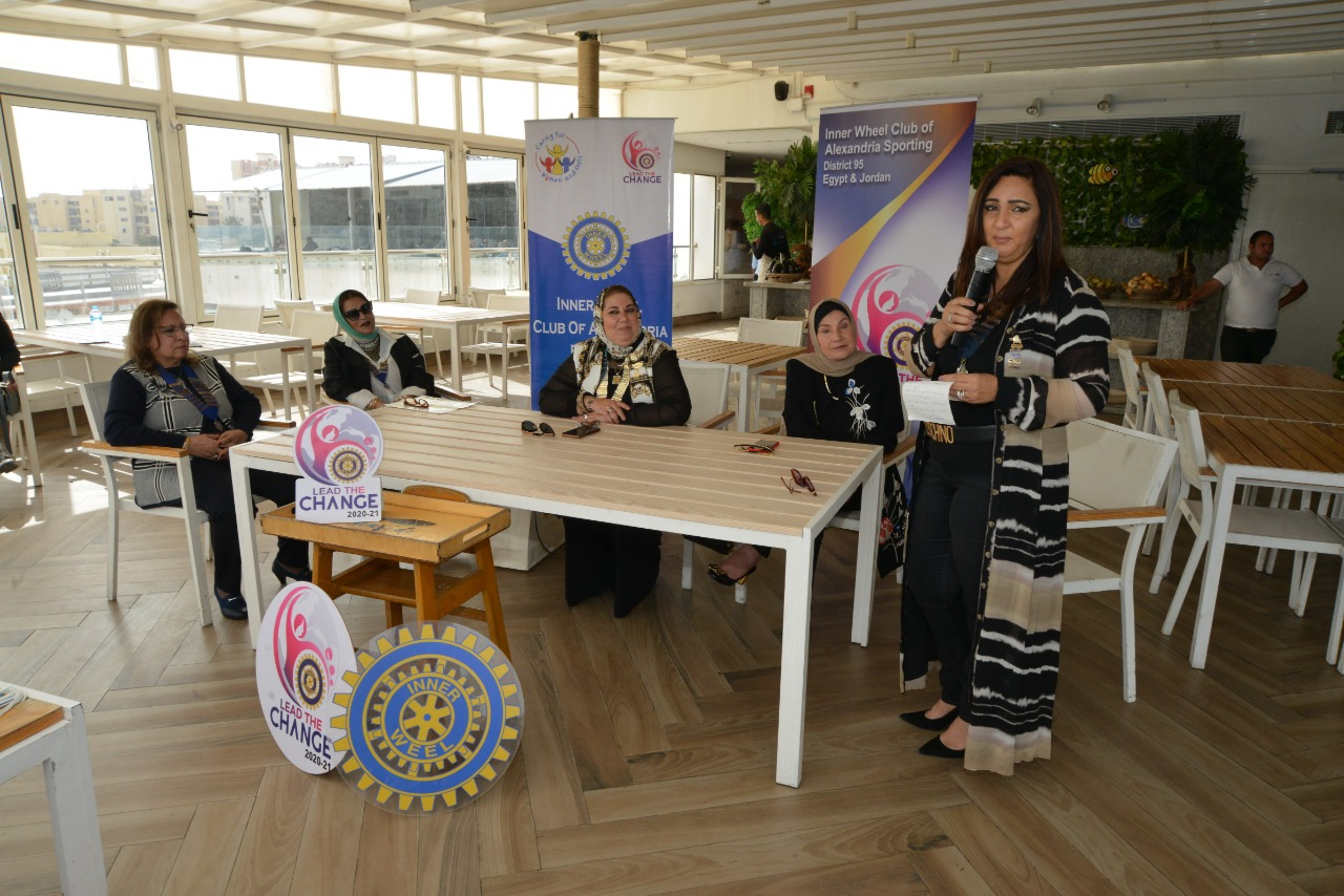 6-Mrs. Dina El Hadary President of IWC of Alexandria Sporting presenting her Speech