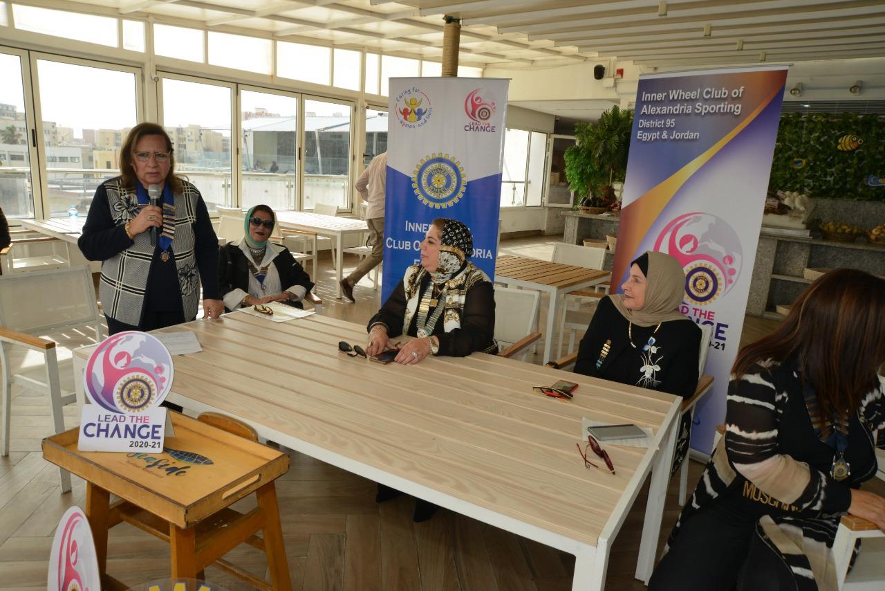 9-Mrs. Mervat Ramsses President of IWC of Alexandria Mediterranen presenting her Speech