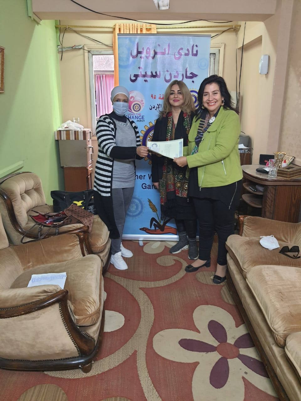 1-A donation from IWC of Garden City to Umm Hani Nursing Home