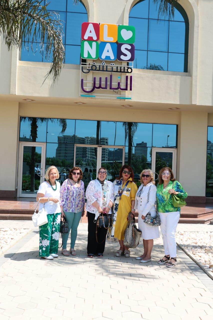 1- D95 Egypt &Jordan Chairman Mona Aref & IWC of Zamalek at Al Nas Hospital