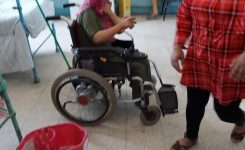 IWC of Al Tahrir offered food supplies for the patients of Leprosy Colony
