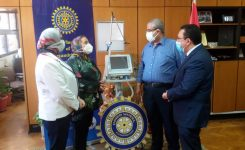 IWC of Alexandria East offering a ventilator to the Faculty of Dentistry