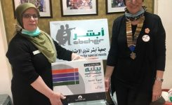 IWC of Alexandria Donating  an IQ test device to Abcher Association for Special Needs