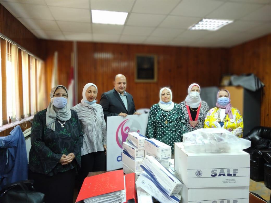 1-IWC of Tanta Donating Medical Supplies to Al Minshawi General Hospital in Tanta.