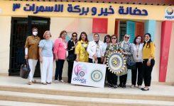 "IWC of Zamalek, District 95 Egypt & Jordan Chairman & District committee at ""Khair and Baraka Association"" Al Asmarat Neighborhood"