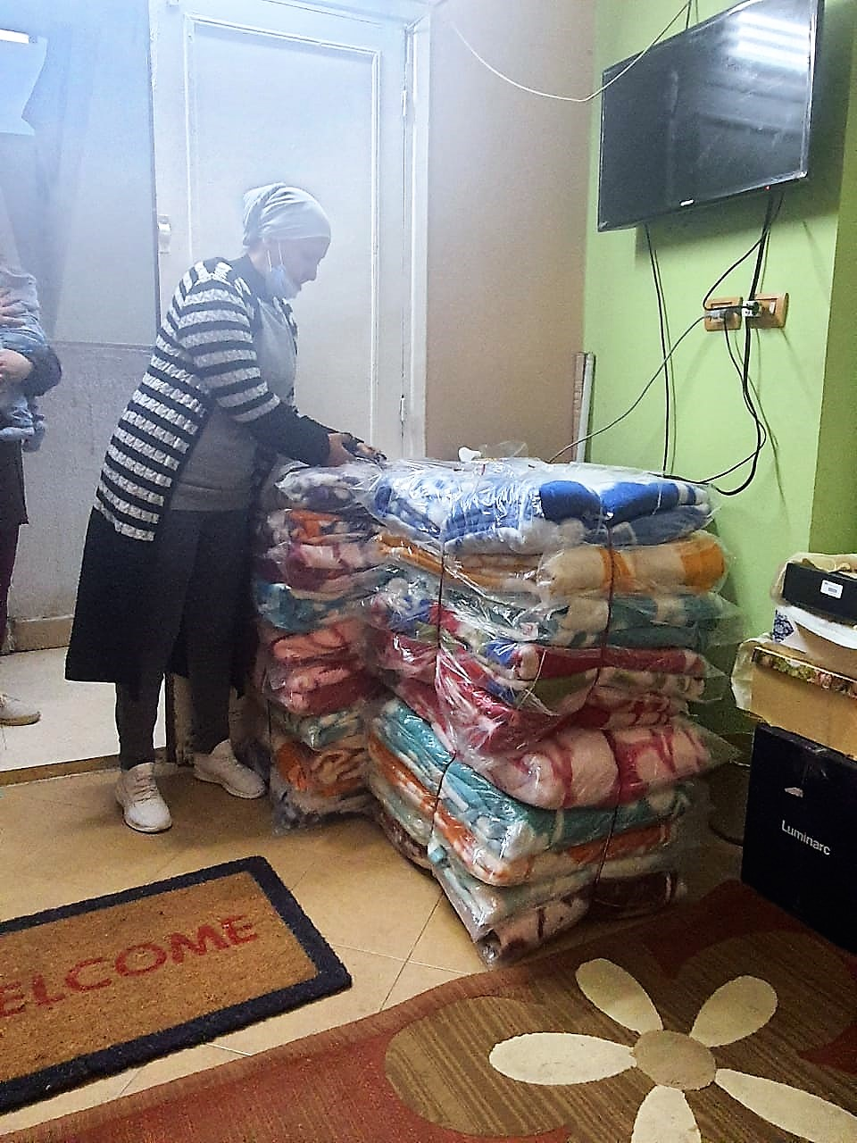 3- Distribution of Blankets