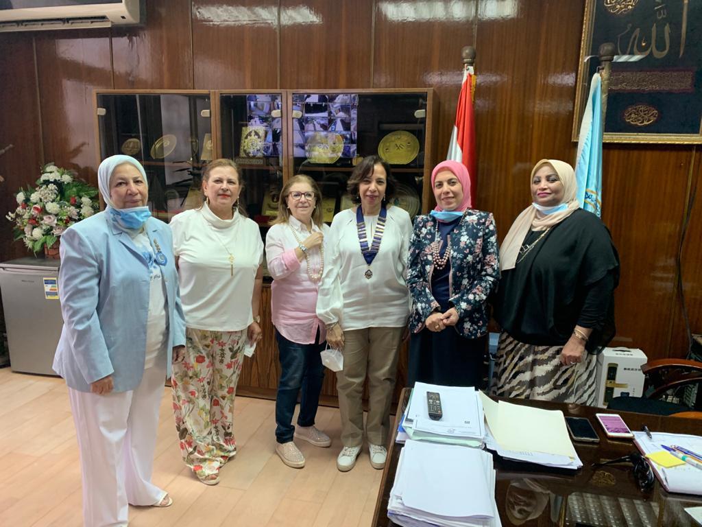 3- Members of IWC of Gezira Sporting at Theodore Bilharz Institute