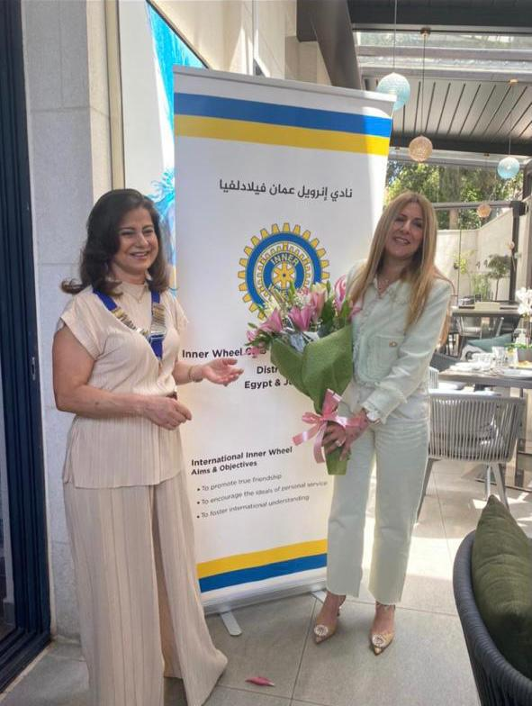 3- Mrs.Rowand Abou Hantash & the Incoming President Mrs. Nazi Qopti