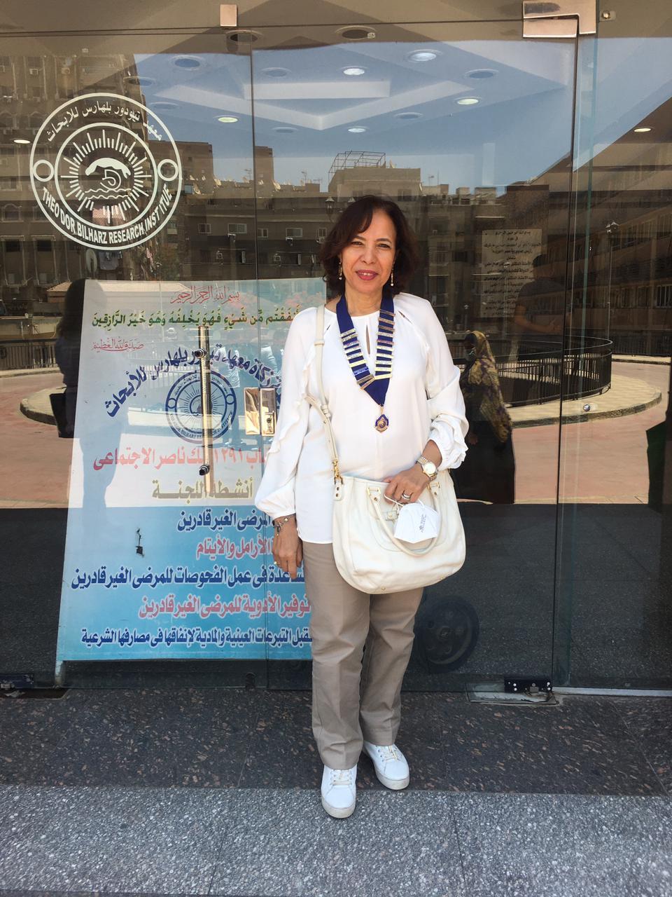 4- Dr. Asrar El Bakri President of IWC of Gezira Sporting at Theodore Bilharz Institute
