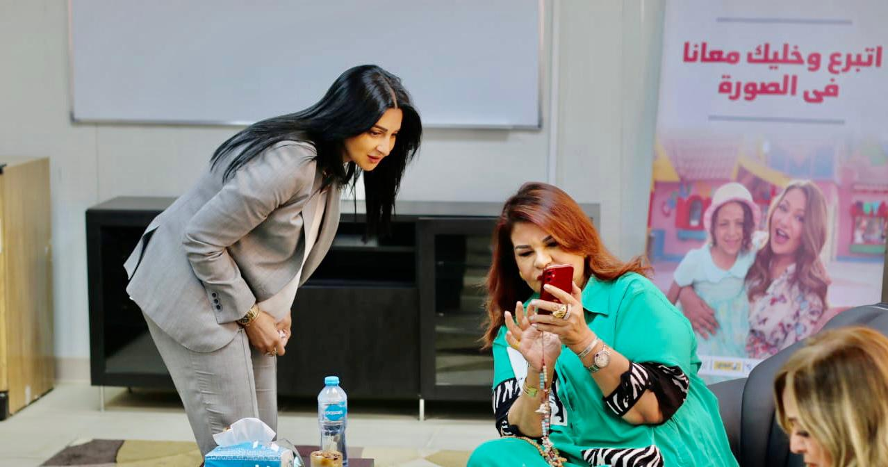 4- Mrs. Samia Aboul Fetouh President of IWC of Zamalek & Heba El Sewedy Chairperson of board of directors of Ahl Masr Hospital