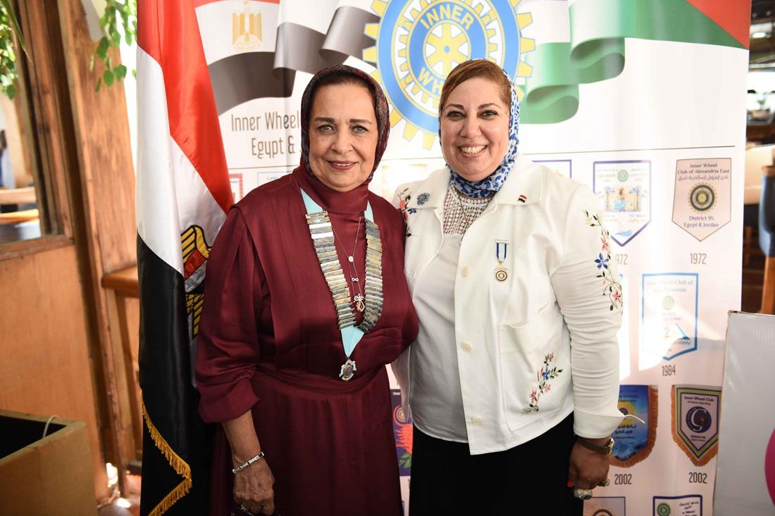 1- Mrs. Hala Hagras the incoming Chairman & Mrs. Mona Aref