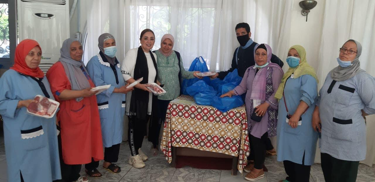 1- Reem Milady President of IWC of Alexandria Sporting Distributing Charitable Calf