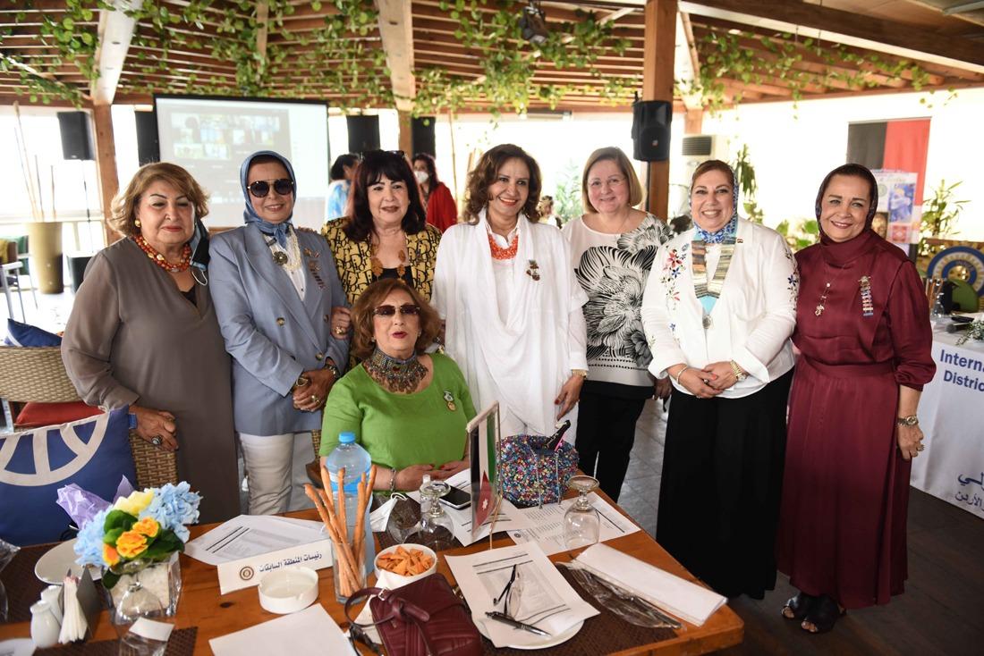 12-Laila El Aswad IIW member,Iman Tarshoubi NR, Mona Aref District Chairman, Hala Hagras Incoming Cairman & Afaf Maged Vice Chairman