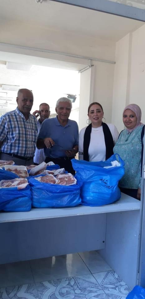 2- IWC of Alexandria Sporting in cooperation with Dr. Wael Sherif Bayoumi association distributing the charitable calf