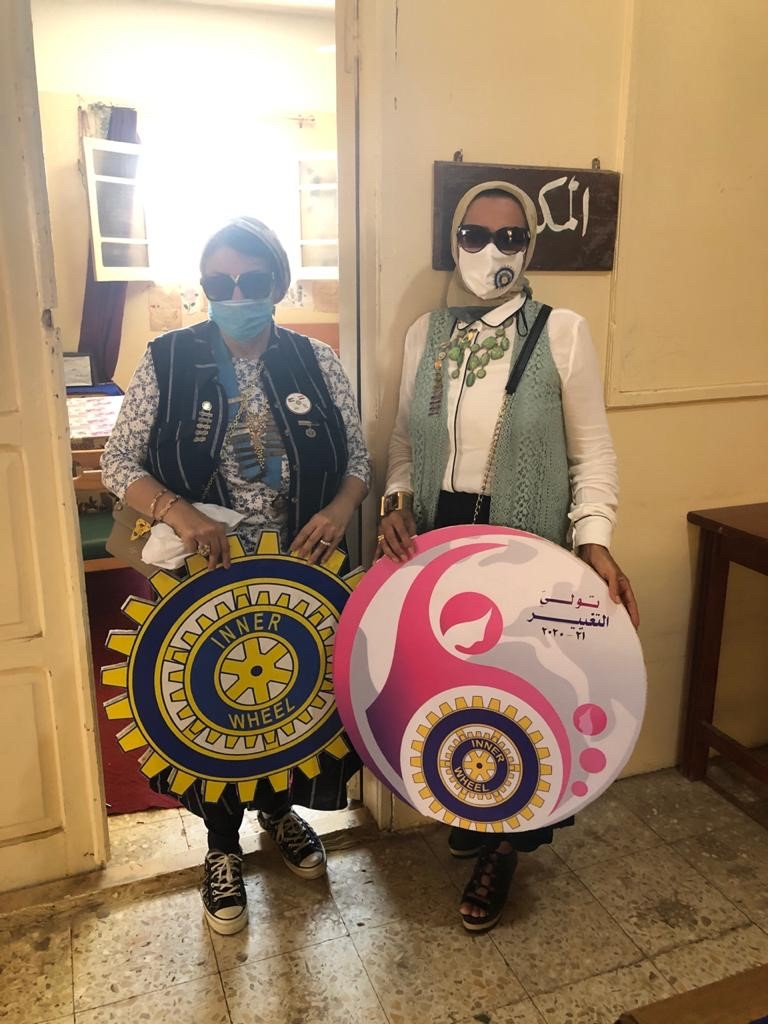 4-District Editor Nana El Tarshoubi &President Nagwa Kandil
