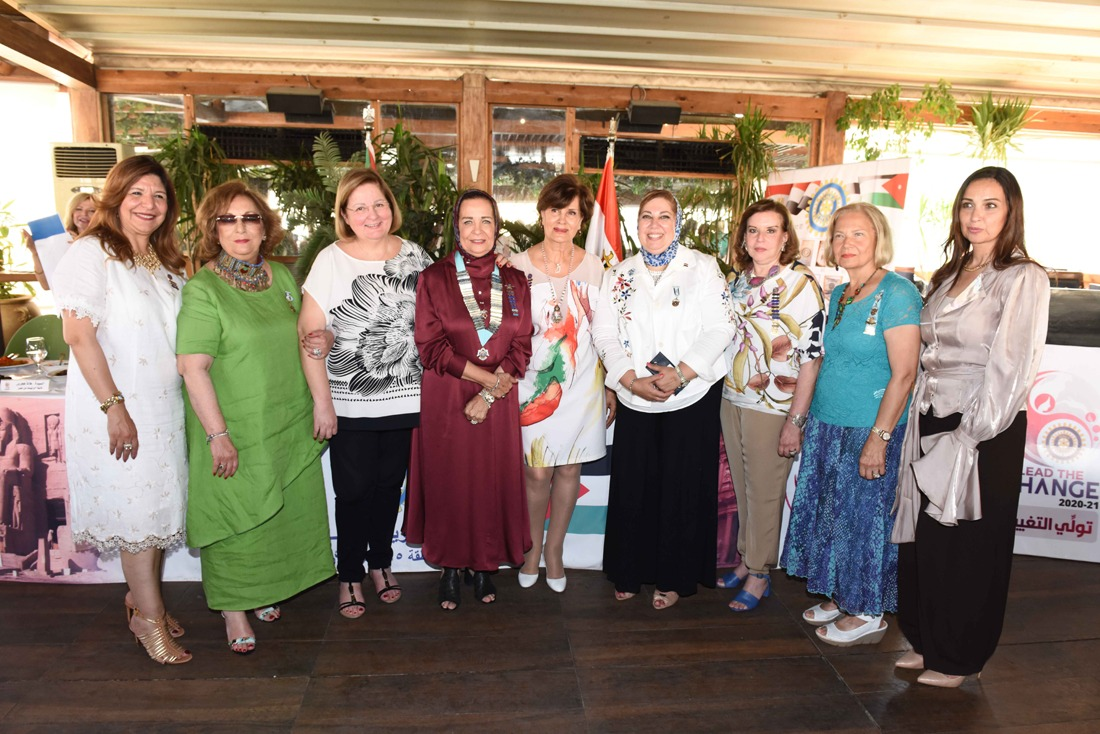 7- Mrs. Hala Hagras the incoming Chairman & her district committee